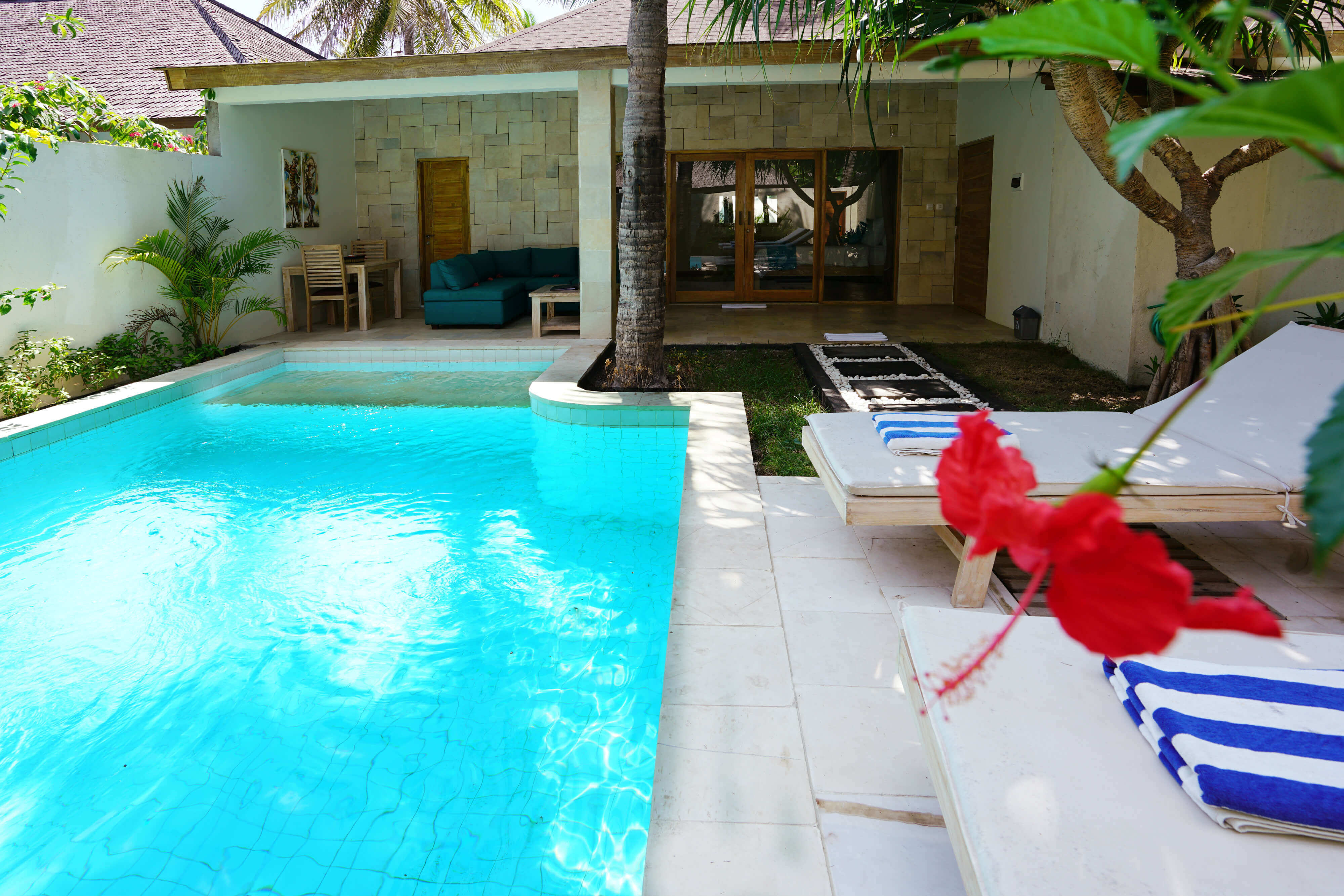 Private Pool view villa Stella Gili Trawangan
