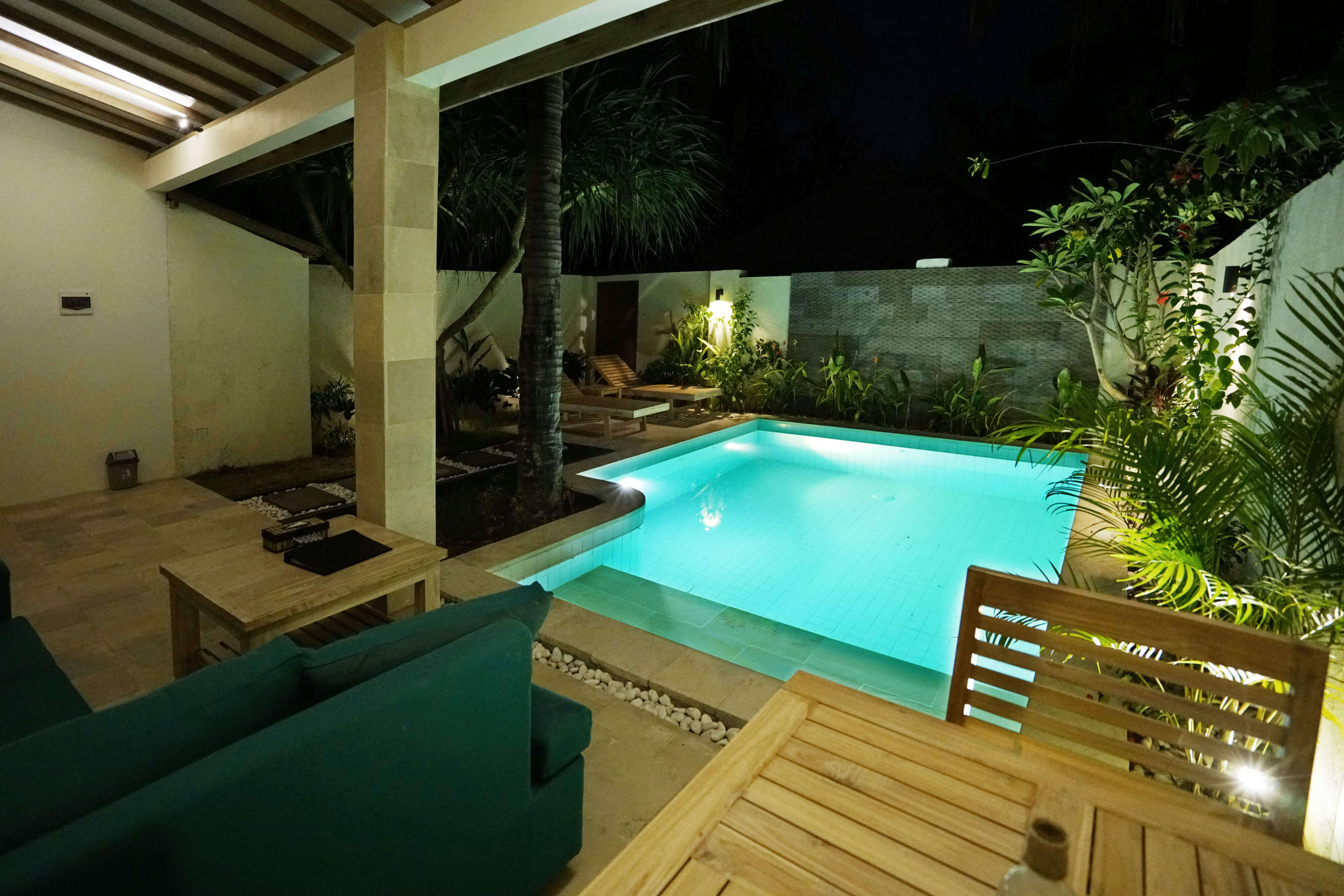 Nightly view villa Stella Gili Trawangan
